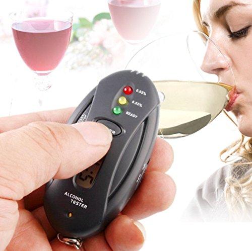 Professional Police Digital LCD Alcohol Tester Analyzer Breath Breathalyzer Keychain Style