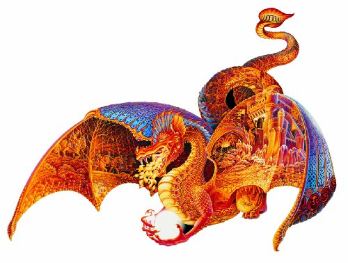 Ravensburger Fire Dragon, 1000 pc Shaped Puzzle