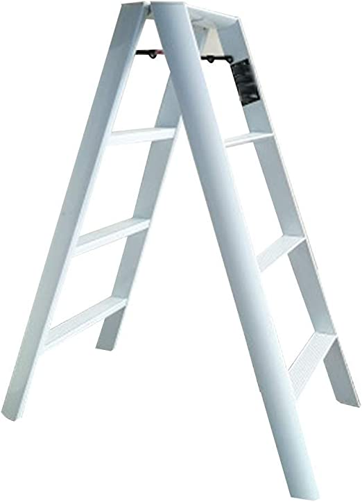 HOMRanger Escalera Conjunto multifunción Escalera Plegable de aleación de Aluminio en Ambos Lados Simple, Escalera de 4 peldaños de Doble Uso: Amazon.es: Hogar