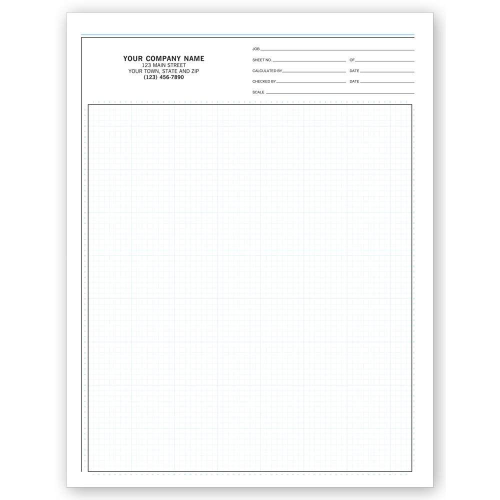 CheckSimple Graph Papers, Standard 1/8, Padded, Customized for Your Business, Snapset Format with 1/8'' Grids Perfect for Proposals (1000 Sheets) by CheckSimple (Image #1)