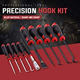 Swpeet 9Pcs Long Hook and Pick Set with Magnetic