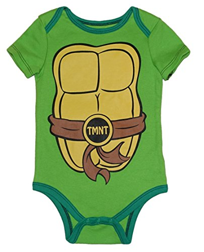 Nickelodeon TMNT Michelangelo Green Baby Bodysuit Dress Up Outfit (12 Months) (Tmnt Outfit)