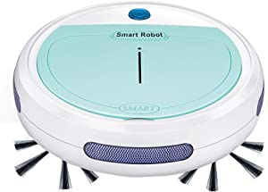 Rechargeable Automatic Smart Robot Vacuum Cleaner Edge Cleaning Suction Sweeper (Blue)