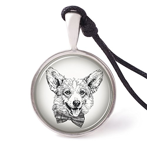 Vietguild's Pembroke Welsh Corgi Dog Necklace Pendants Pewter Silver Jewelry