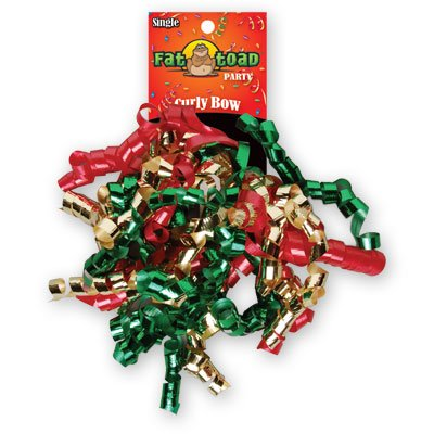 CURLED RIBBON BOW CHRISTMAS #34064, CASE OF 192 by DollarItemDirect