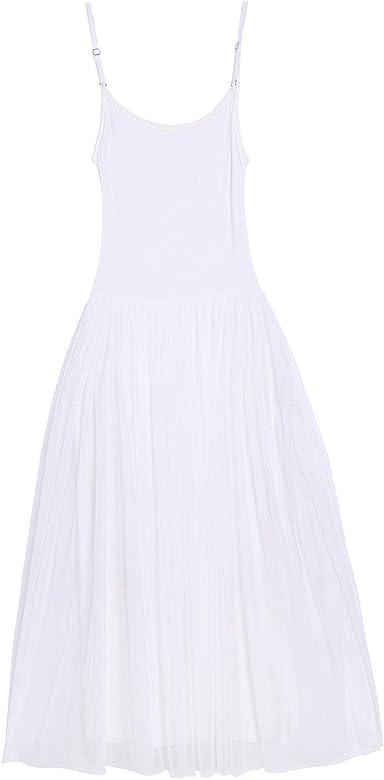 VERO VIVA - Falda - para Mujer Blanco Blanco Talla única: Amazon ...