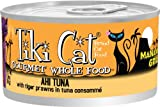 TIKI Cat Manana Luau Ahi Tuna with Tiger Prawns in Tuna Consomme (Pack of 12 2.8 Ounce Cans), My Pet Supplies