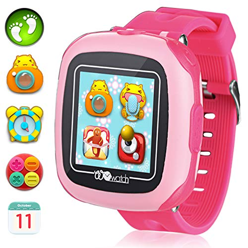 Kids Smartwatches with Games for Boys Girls - Smart Watches with Digital Camera Alarm Clock Children's Smart Wrist Sports Pedometer Kids Gifts Learning Toys (Pink) by GreaSmart