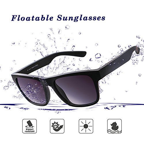 Floatable Sports Sunglasses, Marchpower 100% UVA/UVB Protection, TR90 Frame wear-resistant Sports Glasses for Driving, Cycling, Running, Fishing, boating, surfing, water-skiing - 100 Uva Uvb
