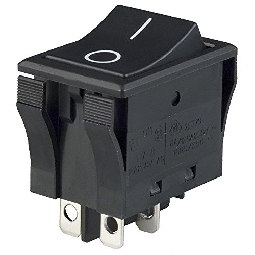 SWITCH ROCKER DPST 16A 125V (Pack of 5) (JWL21RA2A) by NKK Switches