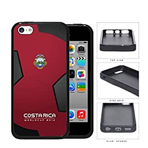 Costa Rica World Cup 2014 Soccer Ball Rubber Silicone TPU Cell Phone Case Cover iPhone 5c