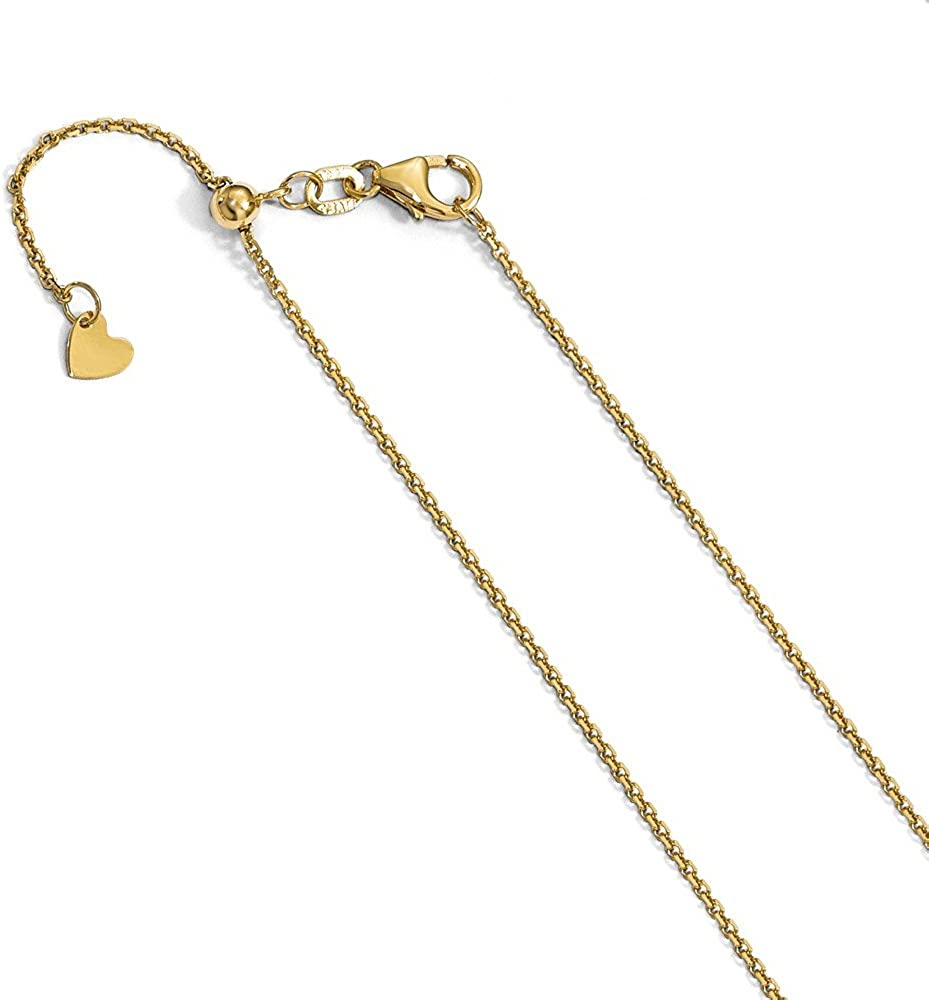 14K Yellow Gold Medical Alert Cadeusus Pendant on an Adjustable Chain Necklace