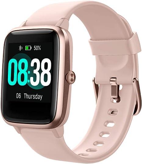 Smart Watch, YONMIG Fitness Tracker IP68 Waterproof Men Women Color Full Touch Screen Fitness Watch Bluetooth Smartwatch with Heart RateSleep Monitor
