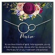 Registered Nurse Gifts for Nurse Necklace Nurse Appreciation Gifts Thank You Nurse Gifts for Nurse Practitione