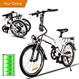 Miageek Folding Aluminum Electric Bike with 36V Removable Lithium-Ion Battery Lightweight E-Bike with 250W/350W Powerful Motor and Fast Battery Charger