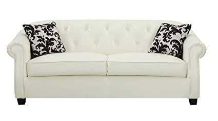 Kristyna Soft Cream Bonded Leather Sofa by Coaster
