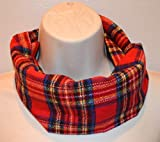 Red plaid infinity scarf for kids, flannel plaid infinity scarf, Christmas red plaid flannel infinity scarf, toddler scarf, baby scarf