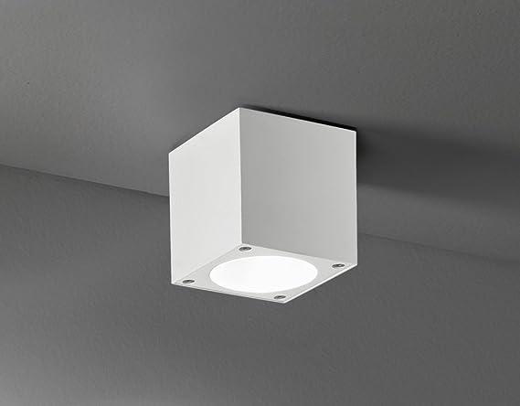 Plafoniere Per Interni Led : Plafoniera led in alluminio colore bianco perenz b lampada per