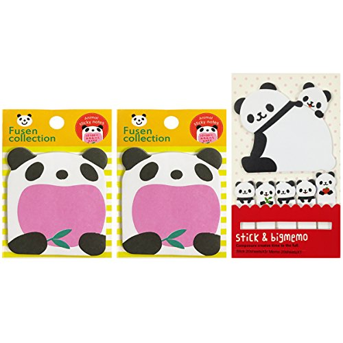 Panda Notepad - Wrapables Bookmark Cheerful Panda and Cubs Memo Sticky Notes
