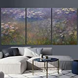 wall26 - Water Lilies by Claude Monet - Canvas