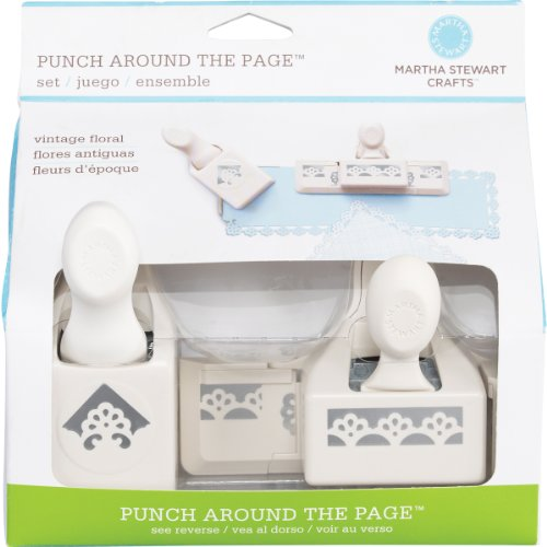 Martha Stewart Crafts Punch Around the Page, Deco Flowers Punch Set Deco Craft Punch