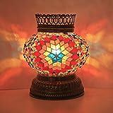 Woodymood Mosaic T light/Candle Holder, Turkish Moroccan Mosaic Glass lamp 4'' 1 Ball (Flame)