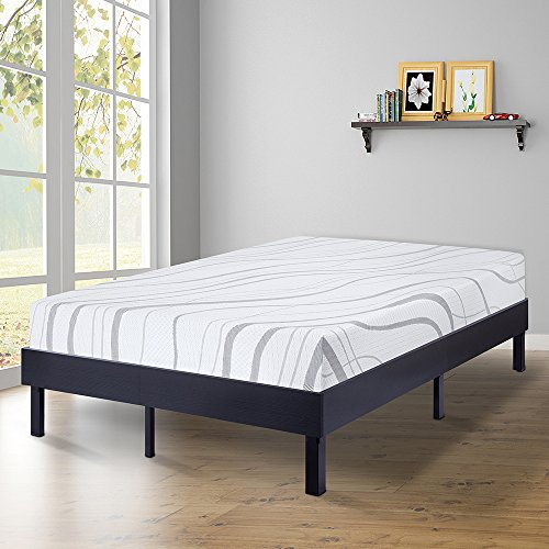 SLEEPLACE 14 Inch Modern Wood Platform Bed Frame / Steel Sla