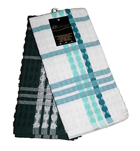 Lushomes Green Terry Kitchen Towels (Pack of 2)