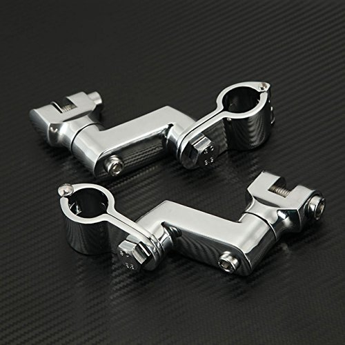 INNOGLOW Motorcycle Foot Peg Mounts 25mm 1
