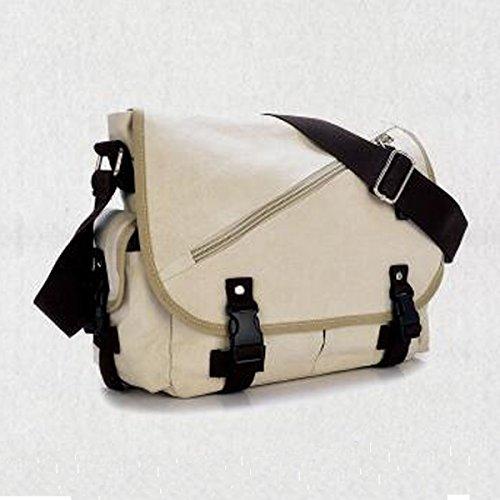 Travel Shoulder Boy Crossbody Canvas Vintage Casual For Multicolor Messenger Bag White Laptop Men 10dUdnvqx
