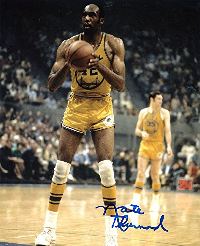 NATE THURMOND GOLDEN STATE WARRIORS FOUL SHOT SIGNED AUTOGRAPHED 8X10 by ALL STAR CARDS & COLLECTIBLES