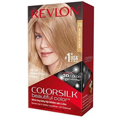 Revlon ColorSilk Hair Color 70 Medium Ash Blonde 1 Each (Pack of 4)