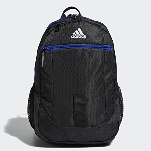 adidas Foundation Backpack, Black/Collegiate Royal Blue, One Size
