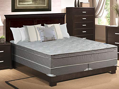 Continental Sleep, 11-inch Medium Plush Eurotop Innerspring Mattress and 4-inch Split Box Spring/Foundation Set, No Assembly Required King Size ()