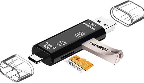 USB-C Type C//USB 3.0//Micro USB//OTG TF SD Adapter Card Reader for Phone Macbook