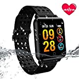 YOCUBY Color Screen Fitness Tracker, Activity Smart Bracelet Wrist Band with Weather Forecast,Heart Rate Monitor,Step Calorie Counter,IP67 Waterproof Pedometer Smartwatch