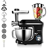 MIC 3 in 1 Food Stand Mixer 1100W - 6 Speed Professional Meat Grinder Blender Kitchen Mixer with 5.5L Bowl, Electric…