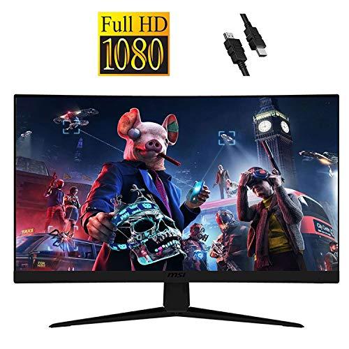 "MSI Optix 2020 Flagship 27"" Curved Gaming Monitor I Full HD (1920 x 1080) 165Hz 1ms, Anti-Glare Super Narrow Bezel, VESA Compatible, Tilting, AMD FreeSync, 3000:1 + Delca HDMI Cable"