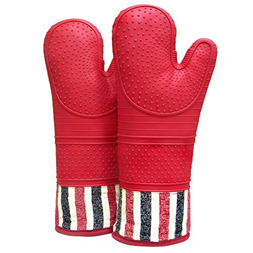 Heat Resistant Degree Silicone Mitts