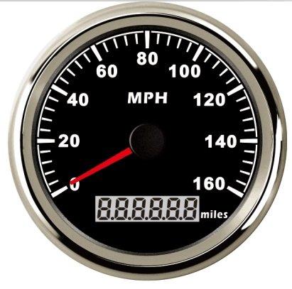 Warranted GPS tachimetro contachilometri 160 mph per auto camion moto trattore con retroilluminazione 85 mm 12 V/24 V ELING