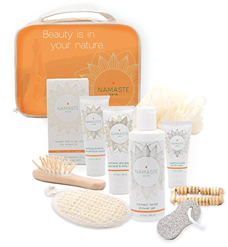 Mother's Day Special Spa Gift Set (11 Luxury Pieces) Charcoal Masque, Eye Cream, Grapefruit Hand & Body Lotion, Grapefruit Shower Gel, Bath Salt, Loofah, Sisal Sponge, & More -Made in USA - Mini Spa Kit