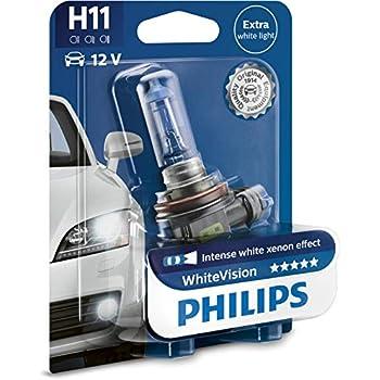 Philips Halogen WhiteVision Xenon Effect 3600K H11 12V 1St. PGJ19-2 12362WHVB1