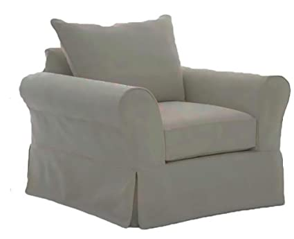 Exceptionnel The Cotton Sofa Cover Only Fits Pottery Barn PB Comfort Roll Arm Armchair.  A Durable