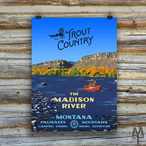 (Madison River, Trout Country, new unframed poster)