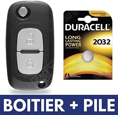 Coque Clé Telecommande Plip Renault Clio 3 Phase 2 Kangoo twingo modus+PILE clef