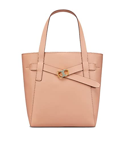 Amazon.com  Tory Burch Gemini Link Leather Tote (Perfect Sand)  Shoes 2c7dfea5014b