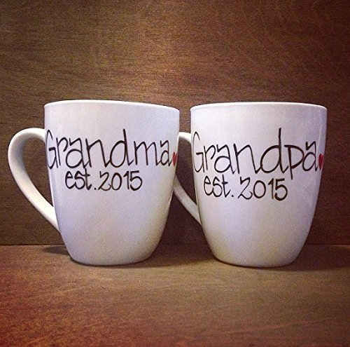 Amazoncom Grandma And Grandpa Hand Painted Mug Personalized With