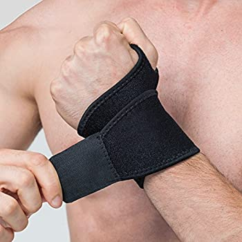 Reversible Sports Wrist Brace, EveShine Fitted Right / Left Thumb Stabilizer, Adjustable Wrist Support Wrap for Volleyball Badminton Tennis Basketball Weightlifting - For Women and Men ¡