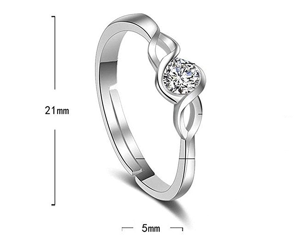 Fliyeong Premium Quality Jewellery Knot Ring With Crystal Diamond