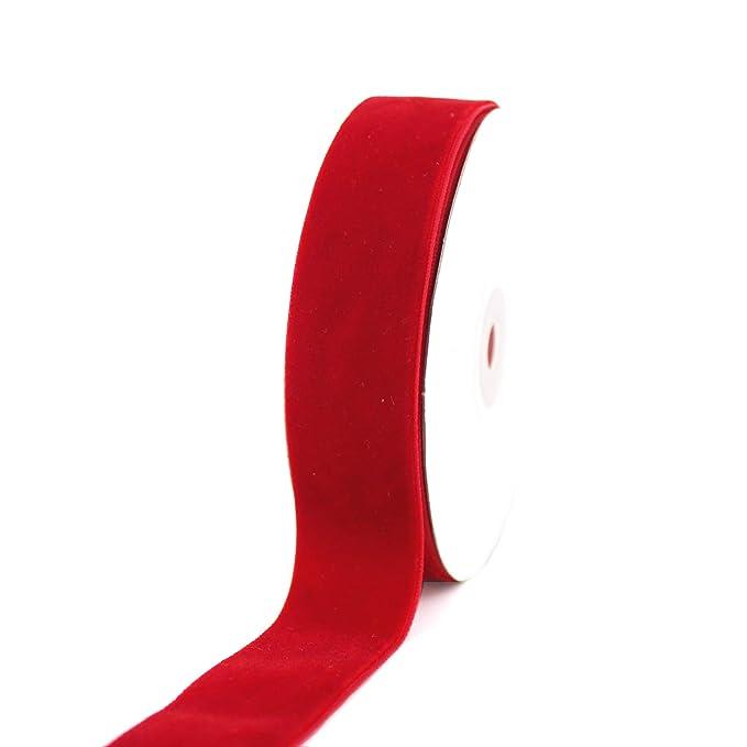 Rollo de cinta de terciopelo rojo de 2,54 cm – Taoqicrafts: Amazon ...